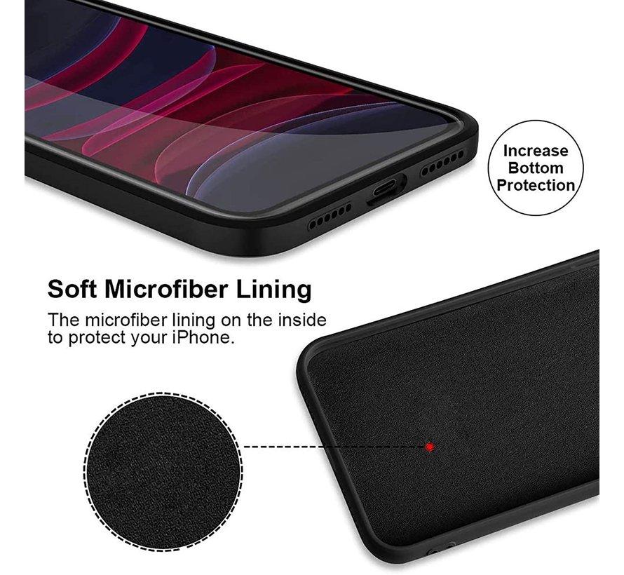 ShieldCase iPhone 11 vierkante silicone case (zwart)