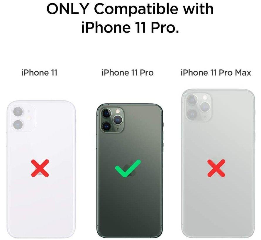 ShieldCase iPhone 11 Pro vierkante silicone case (donkergroen)