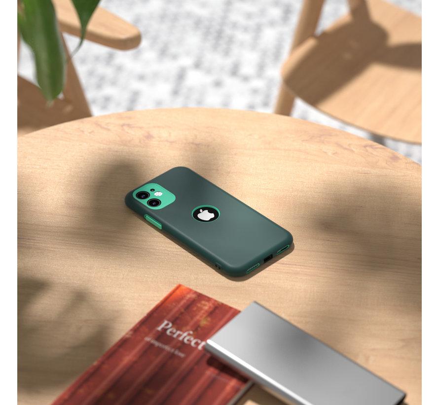 ShieldCase dubbellaags siliconen hoesje iPhone 11 (groen-aqua)