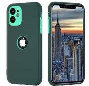 ShieldCase® Dubbellaags siliconen hoesje iPhone 11 (groen-aqua)
