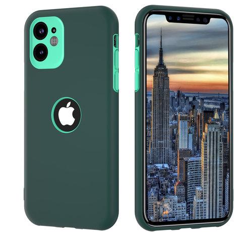 ShieldCase® ShieldCase dubbellaags siliconen hoesje iPhone 11 (groen-aqua)