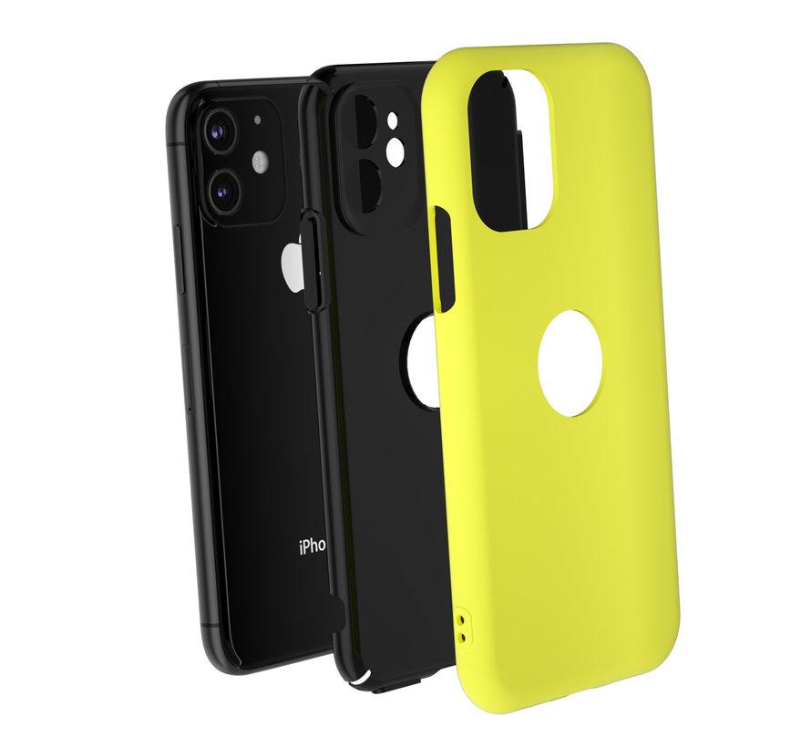 ShieldCase dubbellaags siliconen hoesje iPhone 11 (geel-zwart)
