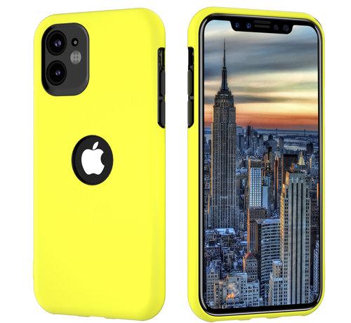 ShieldCase® ShieldCase dubbellaags siliconen hoesje iPhone 11 (geel-zwart)