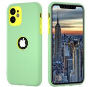 ShieldCase® Dubbellaags siliconen hoesje iPhone 11 (lichtgroen-geel)