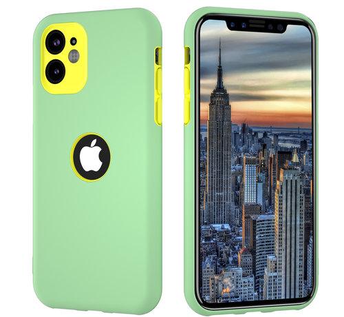 ShieldCase® ShieldCase dubbellaags siliconen hoesje iPhone 11 (lichtgroen-geel)