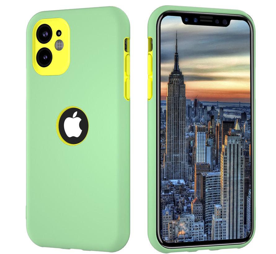 ShieldCase dubbellaags siliconen hoesje iPhone 11 (lichtgroen-geel)
