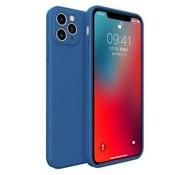 ShieldCase® iPhone 11 Pro Max vierkante silicone case (blauw)