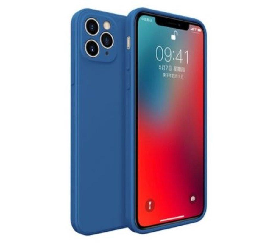 ShieldCase iPhone 11 Pro Max vierkante silicone case (blauw)