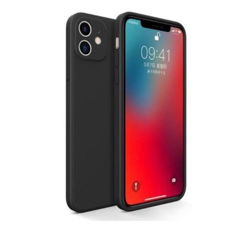 ShieldCase® ShieldCase iPhone 11 vierkante silicone case (zwart)