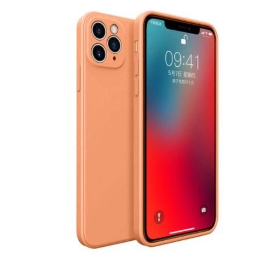 ShieldCase iPhone 11 Pro vierkante silicone case (oranje)