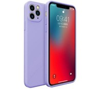 ShieldCase® iPhone 11 Pro Max vierkante silicone case (paars)