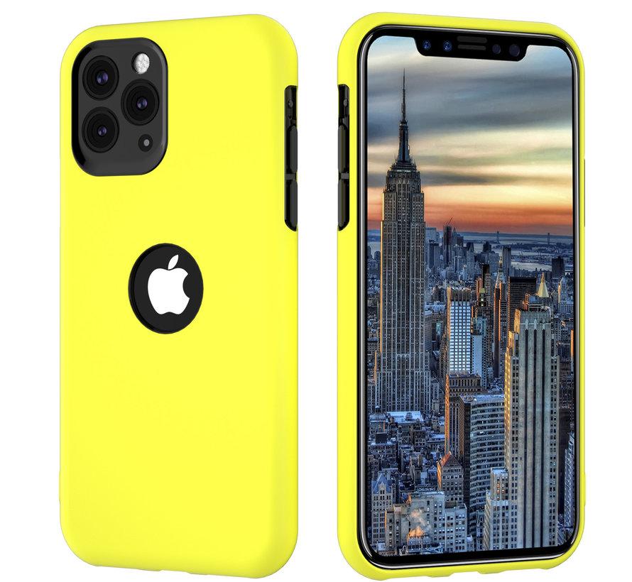 ShieldCase dubbellaags siliconen hoesje iPhone 11 Pro (geel-zwart)