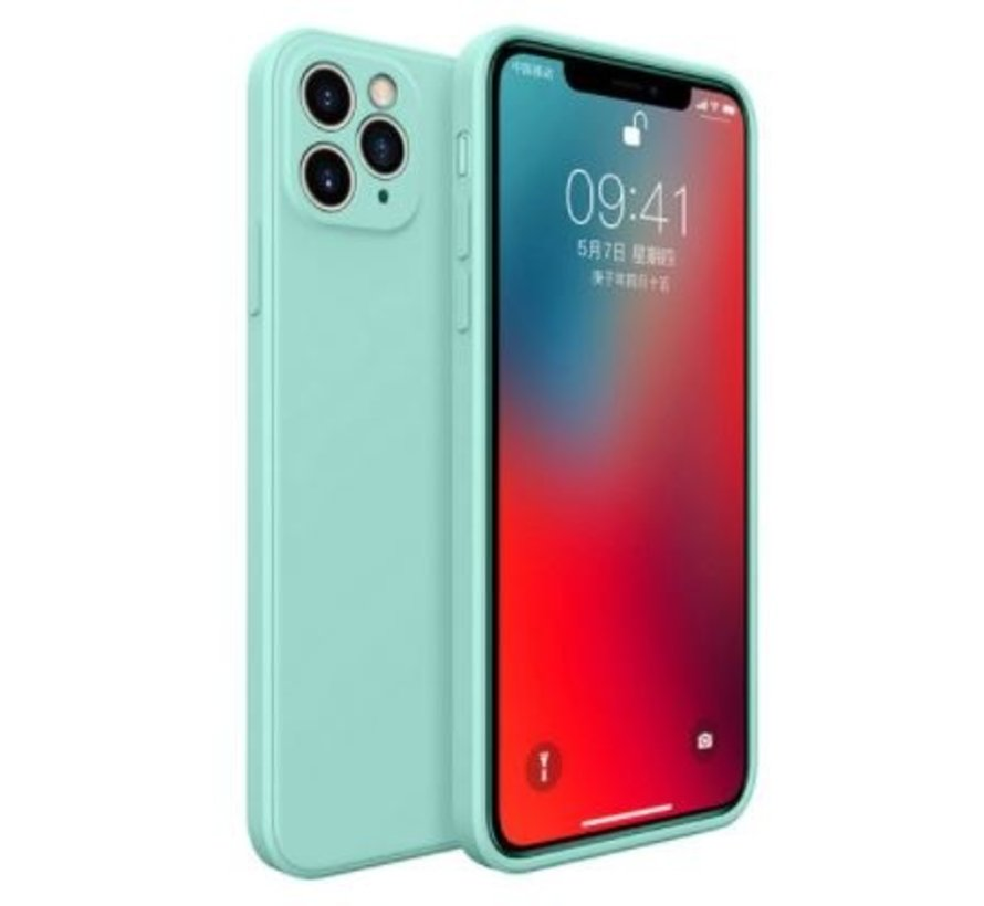 ShieldCase iPhone 11 Pro vierkante silicone case (aqua)