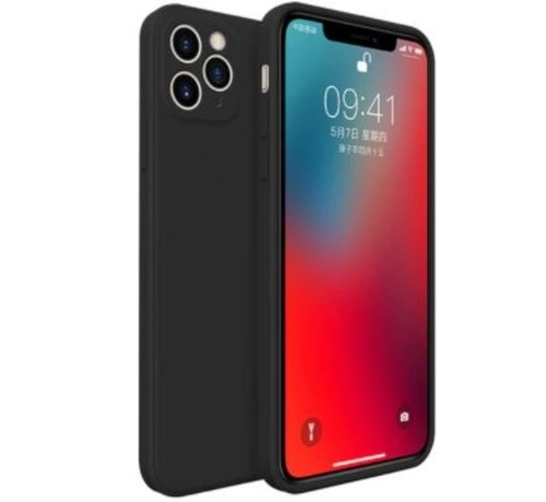 ShieldCase® ShieldCase iPhone 11 Pro Max vierkante silicone case (zwart)