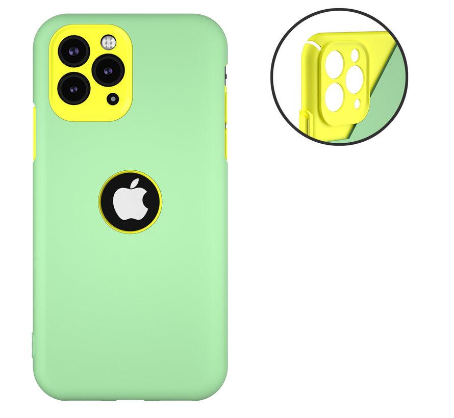 ShieldCase dubbellaags siliconen hoesje iPhone 11 Pro (lichtgroen-geel)