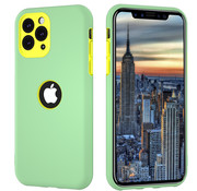 ShieldCase® Dubbellaags siliconen hoesje iPhone 11 Pro (lichtgroen-geel)