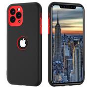 ShieldCase® Dubbellaags siliconen hoesje iPhone 11 Pro Max (zwart-rood)