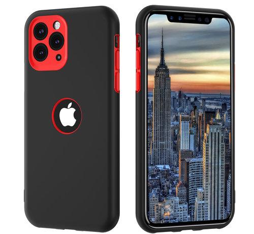 ShieldCase® ShieldCase dubbellaags siliconen hoesje iPhone 11 Pro Max (zwart-rood)
