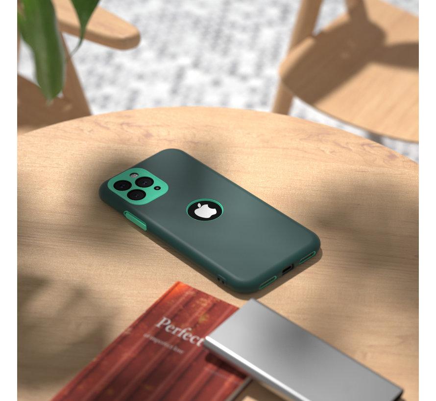 ShieldCase dubbellaags siliconen hoesje iPhone 11 Pro Max (groen-aqua)
