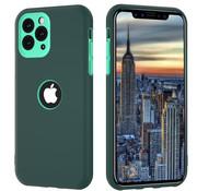 ShieldCase® Dubbellaags siliconen hoesje iPhone 11 Pro Max (groen-aqua)