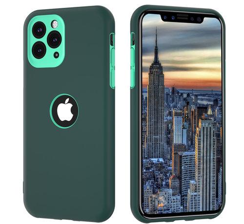 ShieldCase® ShieldCase dubbellaags siliconen hoesje iPhone 11 Pro Max (groen-aqua)