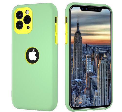 ShieldCase® ShieldCase dubbellaags siliconen hoesje iPhone 11 Pro Max (lichtgroen-geel)