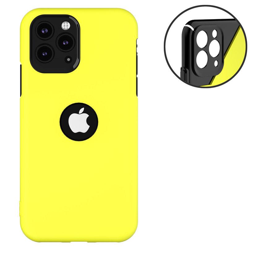 ShieldCase dubbellaags siliconen hoesje iPhone 11 Pro Max (geel-zwart)