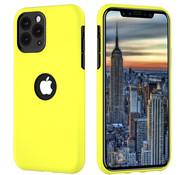 ShieldCase® Dubbellaags siliconen hoesje iPhone 11 Pro Max (geel-zwart)