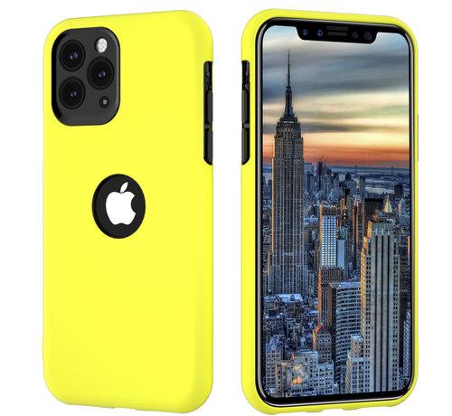 ShieldCase® ShieldCase dubbellaags siliconen hoesje iPhone 11 Pro Max (geel-zwart)