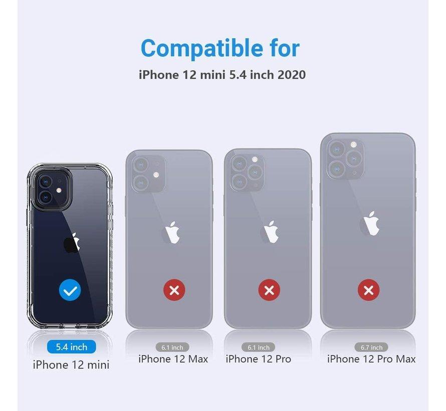 ShieldCase Metallic bumper case iPhone 12 Mini - 5.4 inch (zwart)
