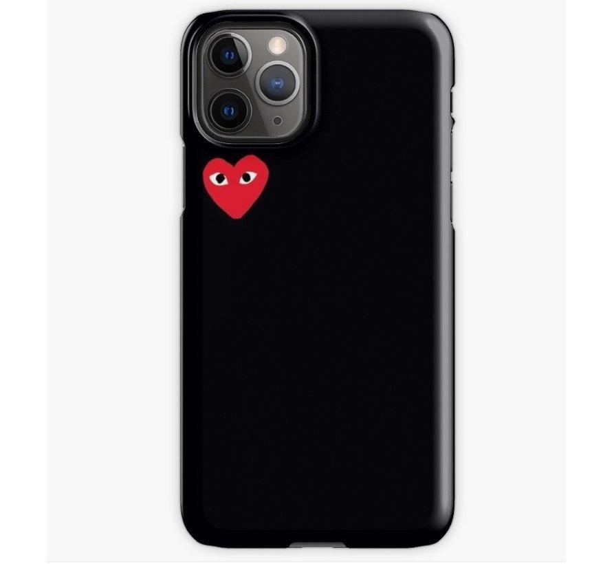 ShieldCase Heart Eyes iPhone 12 Pro Max - 6.7 inch hoesje (zwart)