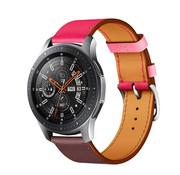 Samsung Galaxy Watch leren bandje (knalroze/roodbruin)