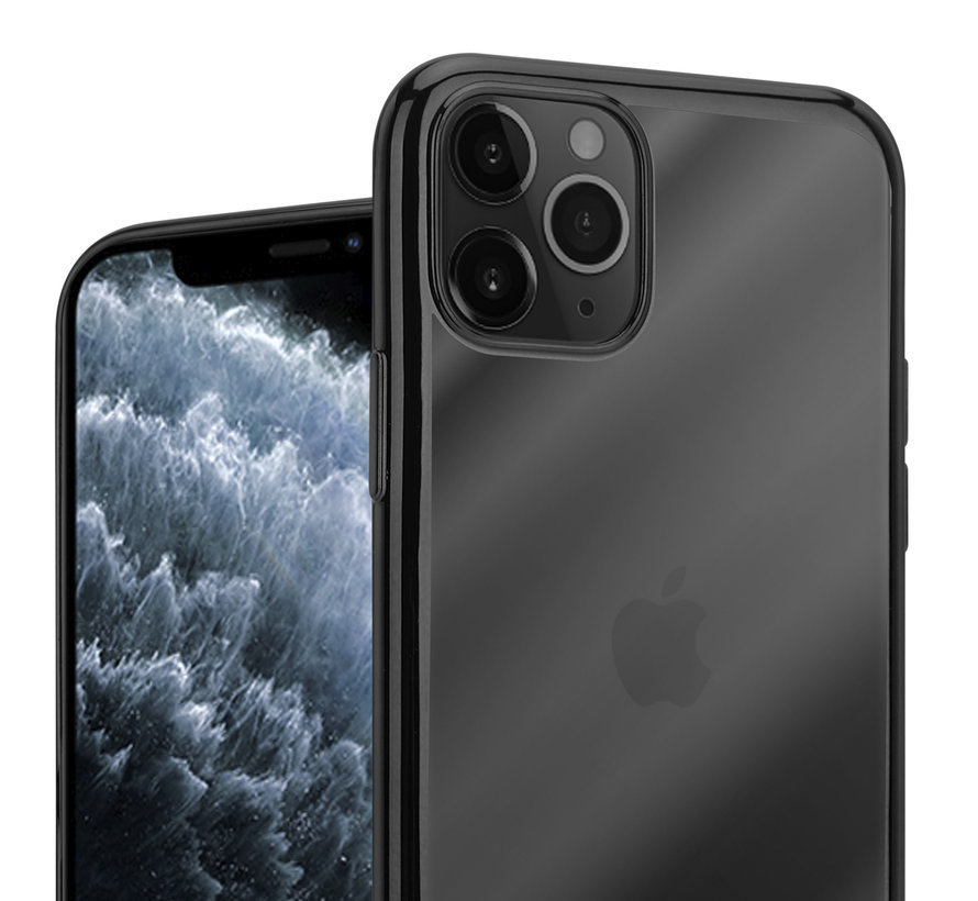 ShieldCase Metallic bumper case iPhone 12 Pro - 6.1 inch (zwart)
