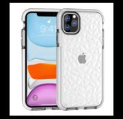 ShieldCase® Diamanten case iPhone 12 Pro  - 6.1 inch (wit)