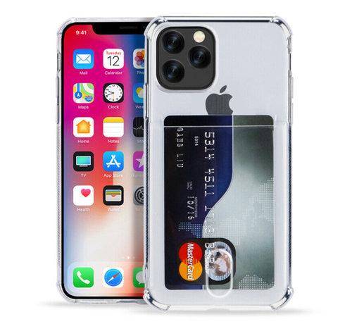 ShieldCase® ShieldCase Shock case met pashouder iPhone 12 Pro - 6.1 inch