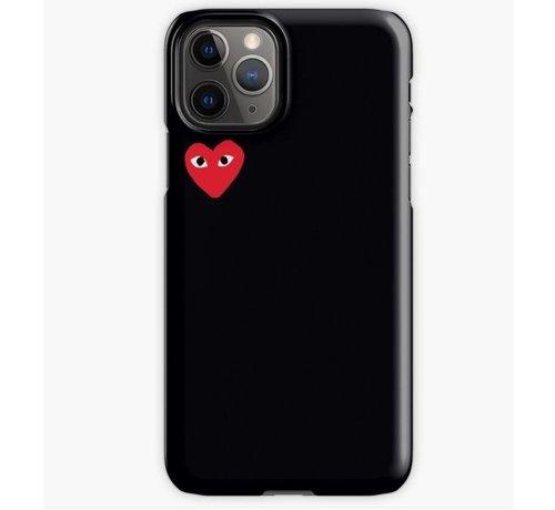 ShieldCase® ShieldCase Heart Eyes iPhone 12 Pro - 6.1 inch hoesje (zwart)