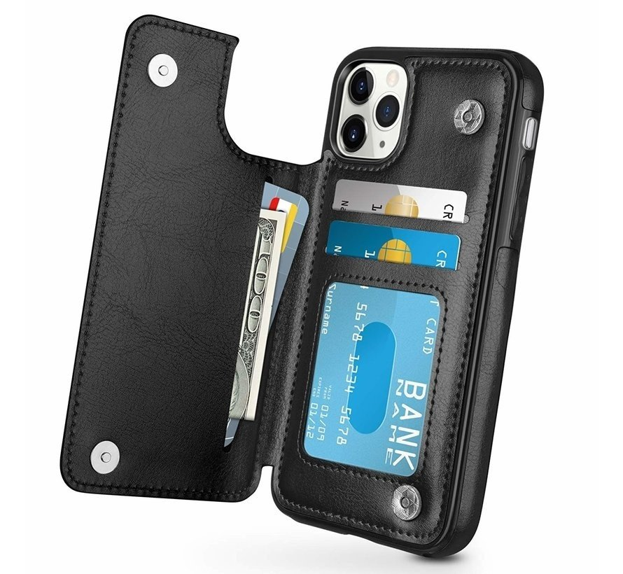 ShieldCase Wallet case iPhone 12 Pro - 6.1 inch (zwart)