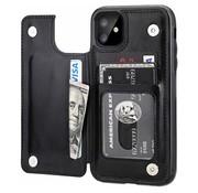 ShieldCase® iPhone 12 Mini wallet case - 5.4 inch (zwart)