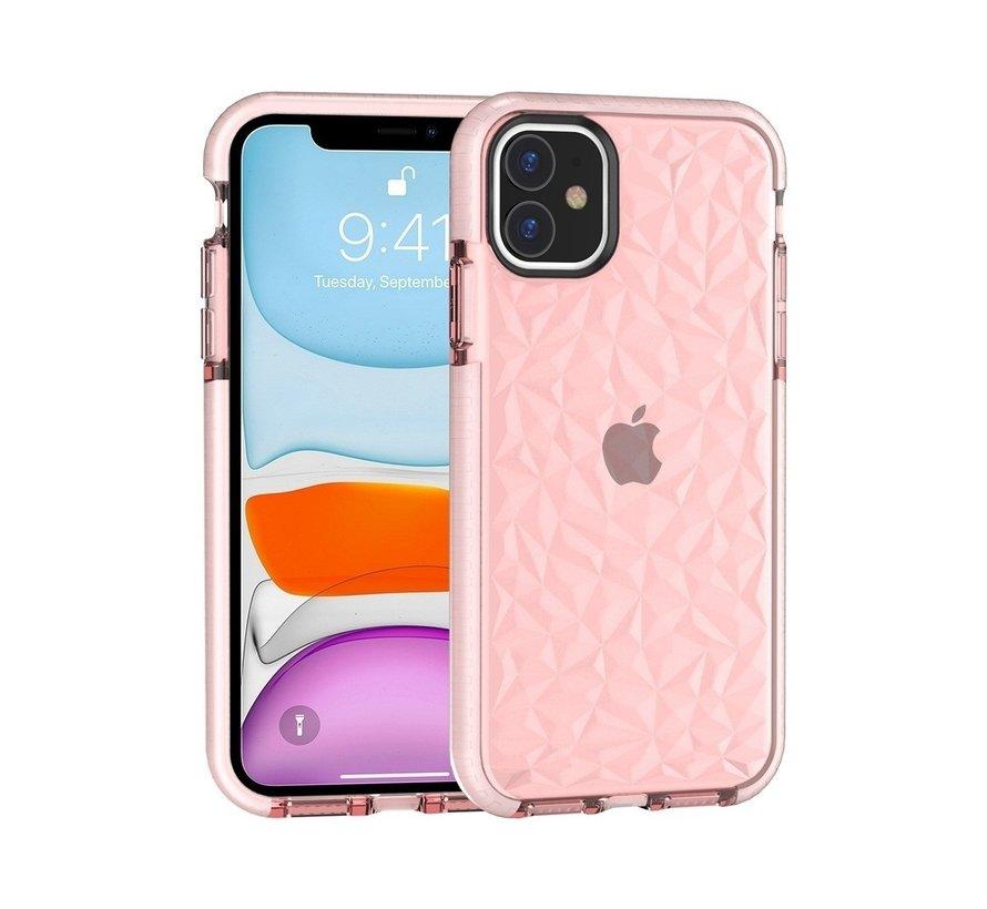 ShieldCase diamanten case iPhone 12 Mini - 5.4 inch (roze)