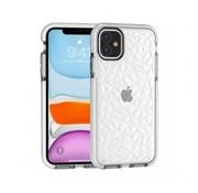 ShieldCase® Diamanten case iPhone 12 Mini - 5.4 inch (wit)