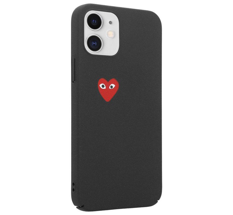 ShieldCase Heart Eyes iPhone 12 -  6.1 inch hoesje (zwart)