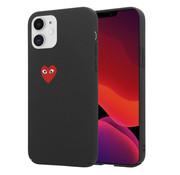 ShieldCase® Heart Eyes iPhone 12 -  6.1 inch hoesje (zwart)