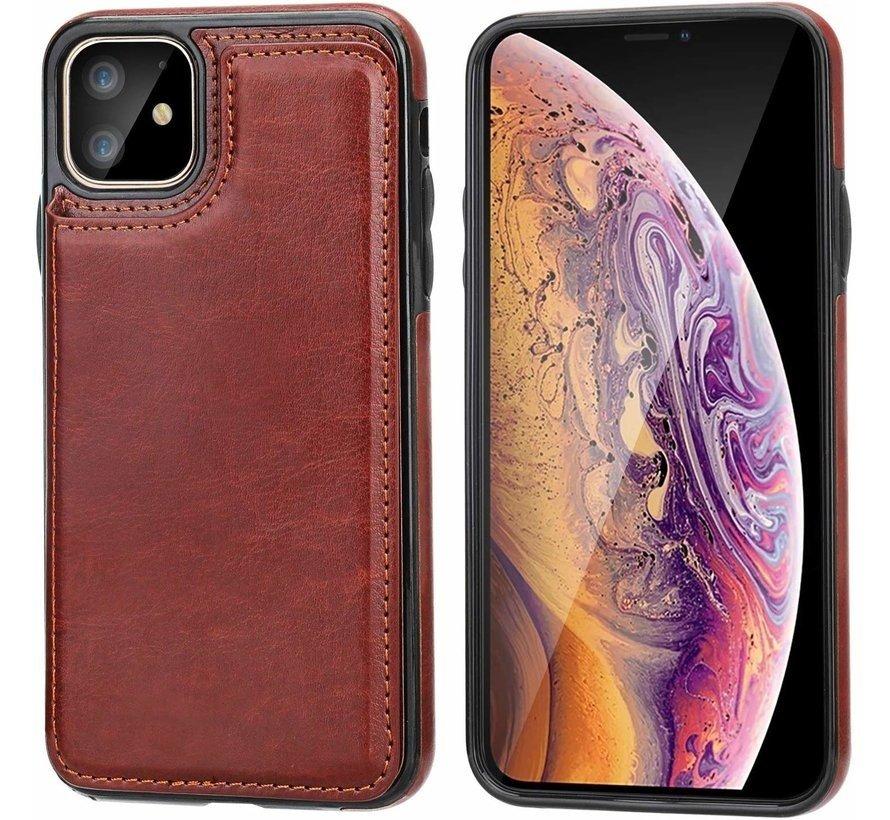 ShieldCase Wallet case iPhone 12 - 6.1 inch (bruin)
