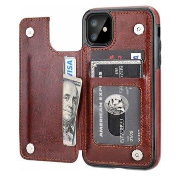 ShieldCase® Wallet case iPhone 12 - 6.1 inch (bruin)