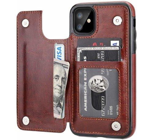 ShieldCase® ShieldCase Wallet case iPhone 12 - 6.1 inch (bruin)