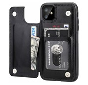 ShieldCase® Wallet case iPhone 12 - 6.1 inch (zwart)