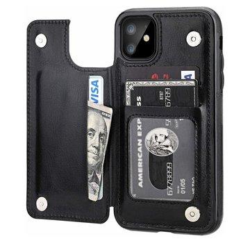 ShieldCase® iPhone 12 wallet case - 6.1 inch (zwart)