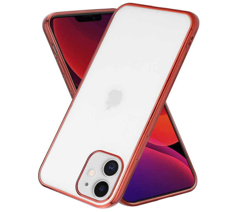 ShieldCase Metallic bumper case iPhone 12 - 6.1 inch (rood)