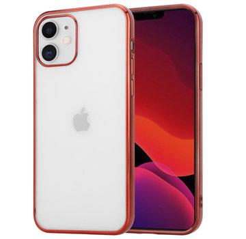 ShieldCase® Metallic bumper case iPhone 12  - 6.1 inch (rood)