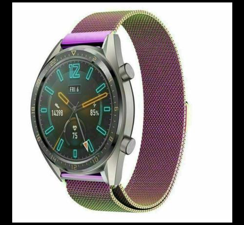 Huawei Watch GT Milanees bandje (regenboog)